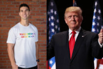 Donald Trump, the most anti-gay and anti-trans president in recent history, is selling Pride t-shirts