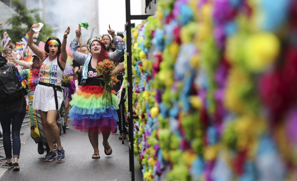 Hundreds of thousands came out to celebrate Toronto's Pride Parade. (Richard Lautens/Toronto Star via Getty Images)