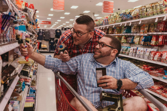 Gay couple engagement shoot Target
