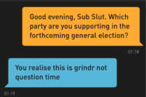 Someone practically did the lord's work by surveying London-based Grindr users their voting intention, and they're exactly what you would expect. (Tom Court)