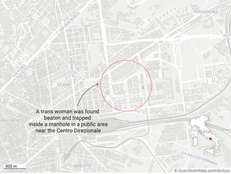 A trans woman was robbed and left locked inside a manhole in Naples, Italy. (PinkNews)
