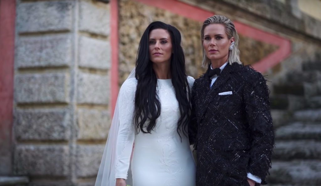 Ashlyn Harris and Ali Krieger