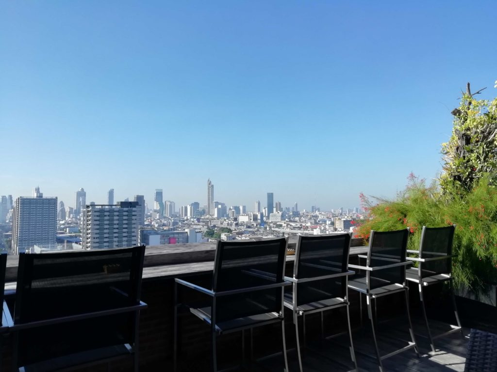 The view at breakfast: Overlooking Bangkok at Siam@Siam (PinkNews)