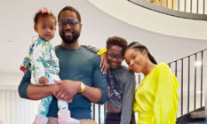 Dwyane Wade, Gabrielle Union and their children Zaya, 12, and Kaavia James, one. (Instagram)