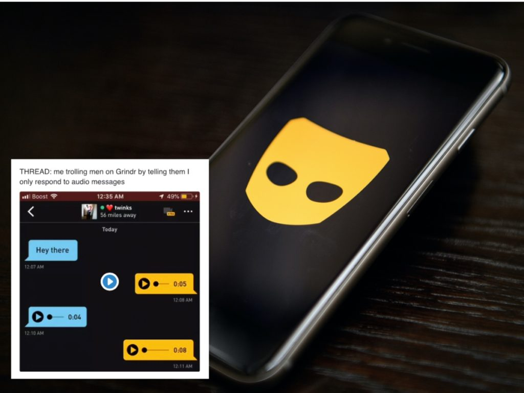 Twitter user Chase has been trolling Grindr guys in an amazing way. (Getty)