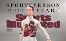 Megan Rapinoe has been named named Sports Illustrated's 2019 Sportsperson of the Year. (Screenshot via Twitter/Sports Illustrated)