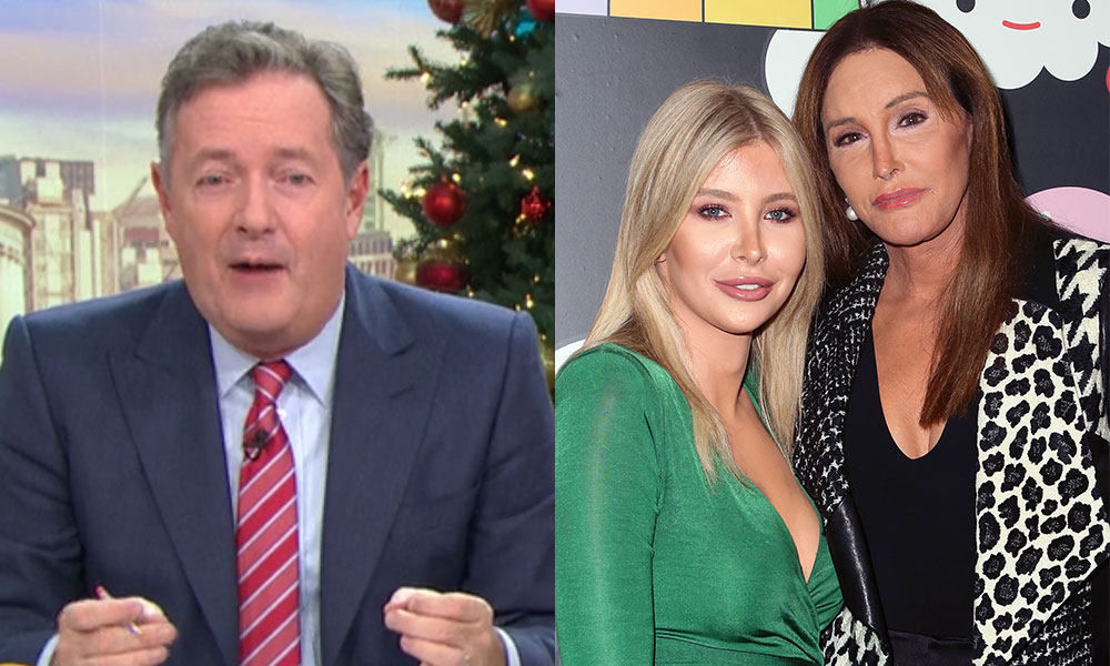Piers Morgan, Caitlyn Jenner and Sophia Hutchins