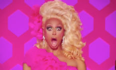 RuPaul looking shocked, mouth agape