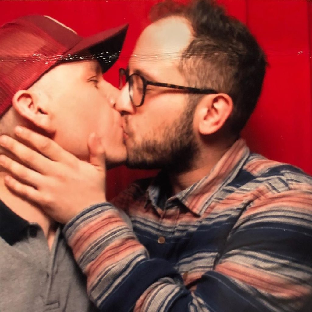 Trixie Mattel kissing her boyfriend
