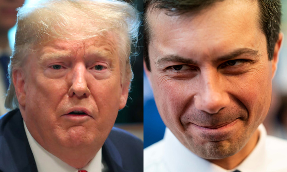 Donald Trump and Pete Buttigieg