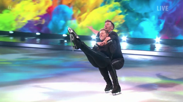 Dancing on Ice: Ian 'H' Watkins reveals Strictly text after same-sex routine