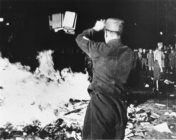 Nazis burn LGBT+ and Jewish works at the Institute of Sex Research in Berlin in 1933