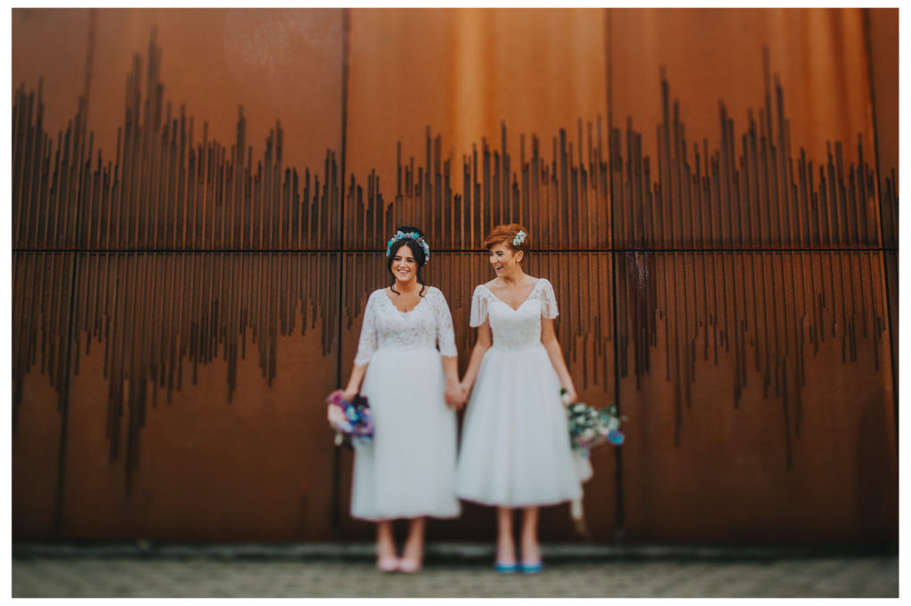 wedding picture of Emma Bradley and Danielle Doherty/same-sex