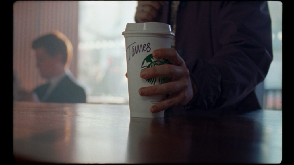 Scene from the advertisment/ starbucks