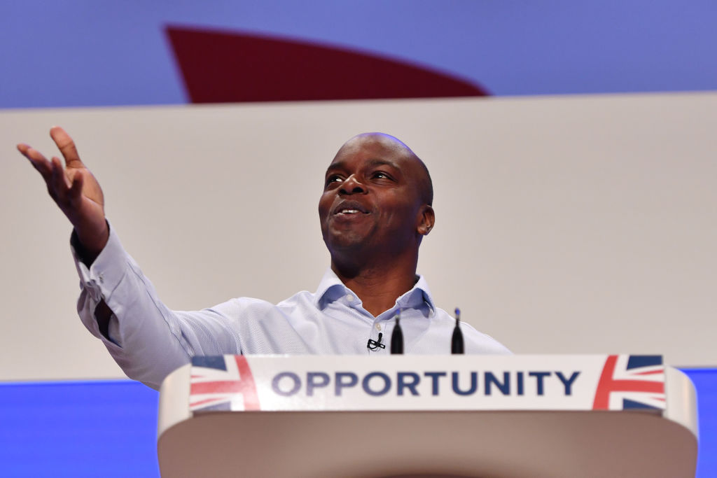 Conservative London Mayoral candidate Shaun Bailey speaks during the Conservative Party Conference on October 3, 2018 in Birmingham, England.