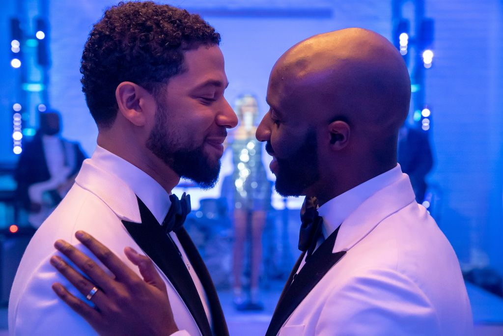 Jussie Smollett and guest star Toby Onwumere on Empire