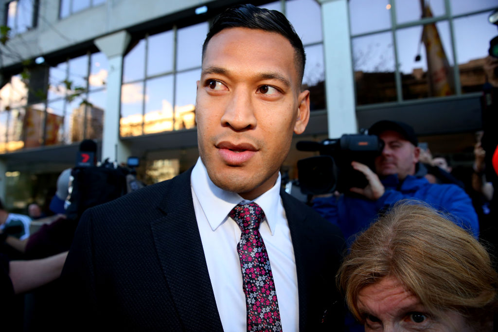 Israel Folau was sacked from the New South Wales Waratahs for homophobic comments less than a year ago
