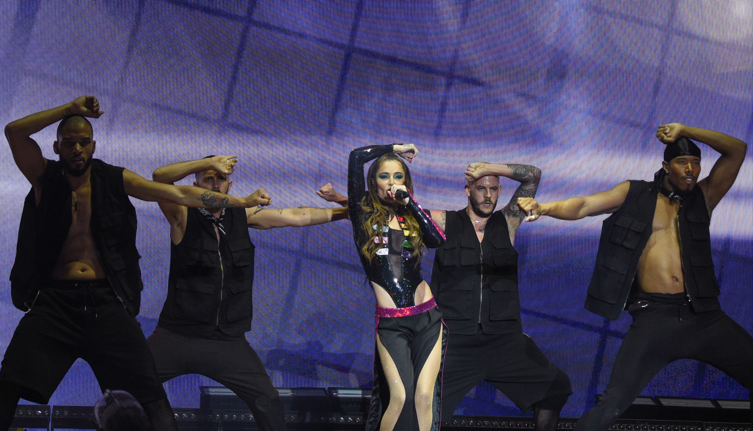 Mighty Hoopla: Cheryl performs on stage during Manchester Pride Live 2019 at the Mayfield Depot on August 25, 2019 in Manchester, England.