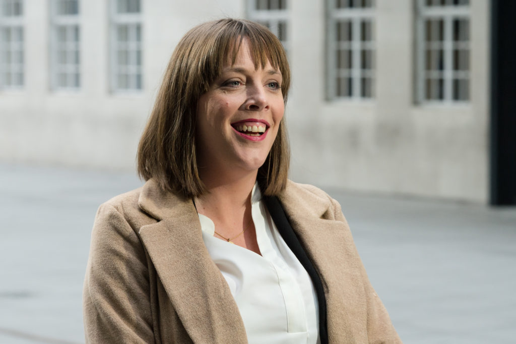 Labour Party MP Jess Phillips speaks to the media outside the BBC Broadcasting House in central London. (WIktor Szymanowicz/NurPhoto via Getty Images)