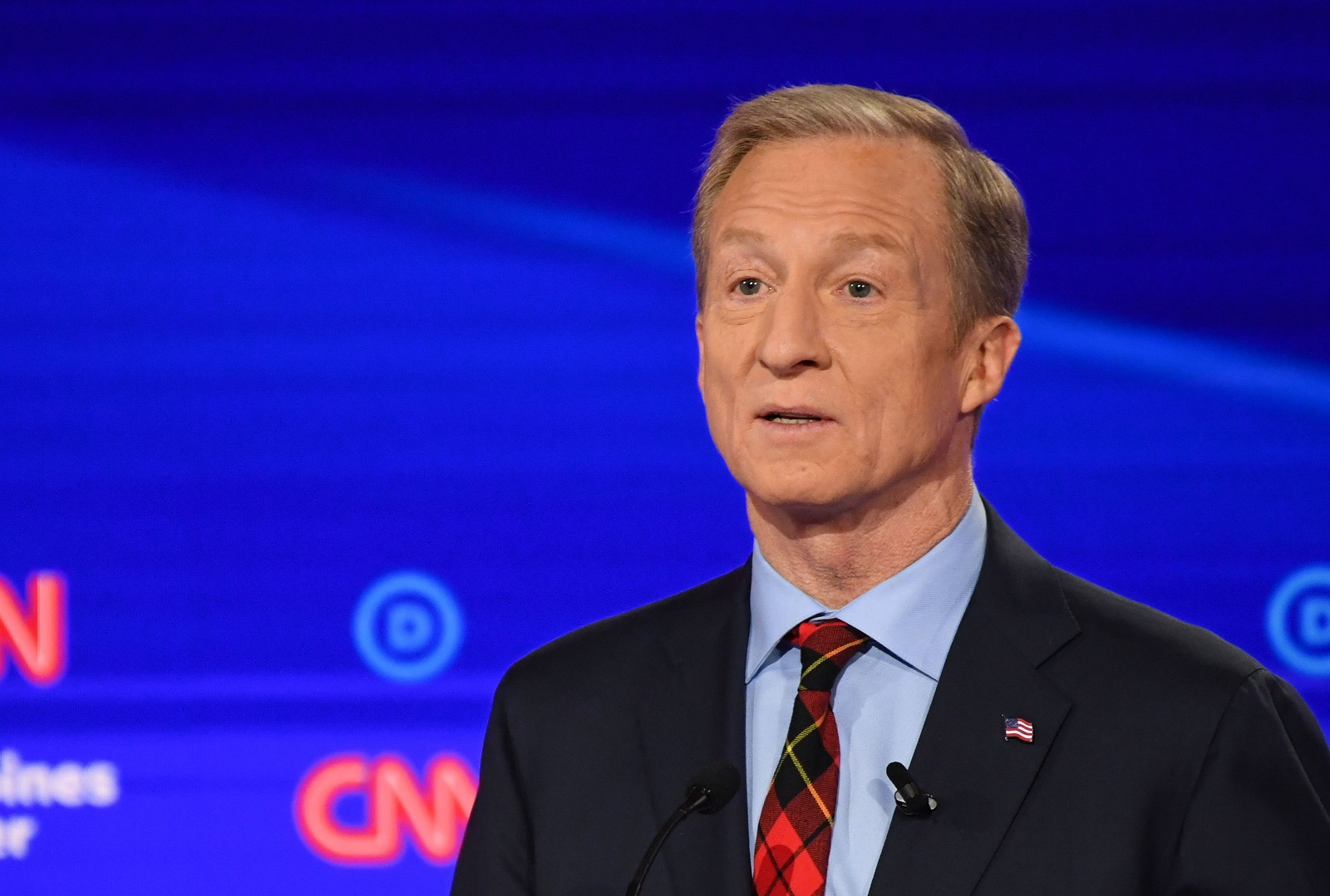 Democratic presidential hopeful billionaire-philanthropist Tom Steyer