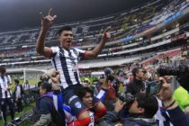 Jesus Gallardo of Monterrey celebrates after his victory during the Final second leg match between America and Monterrey