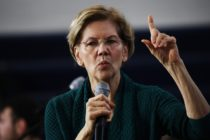 Democratic presidential candidate Sen. Elizabeth Warren speaks during a town hall event