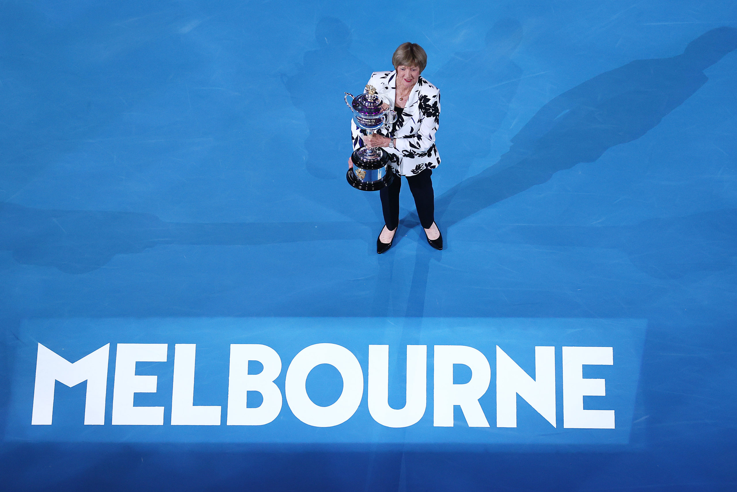 Margaret Court was met with indifference at the 2020 Australian Open in Melbourne, Australia.