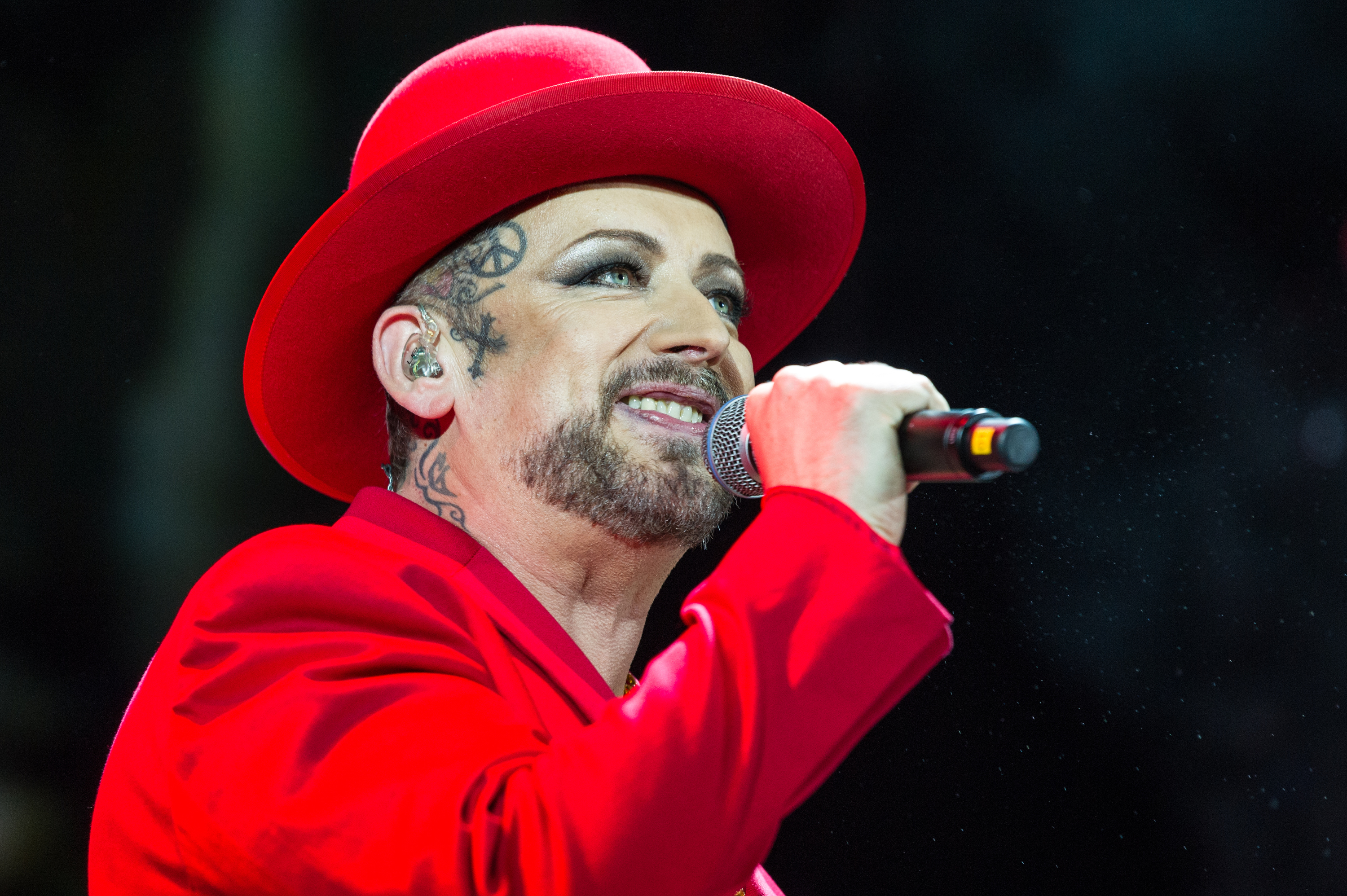 Boy George of Culture Club performs in concert at Eventim Apollo, London. (Brian Rasic/WireImage)