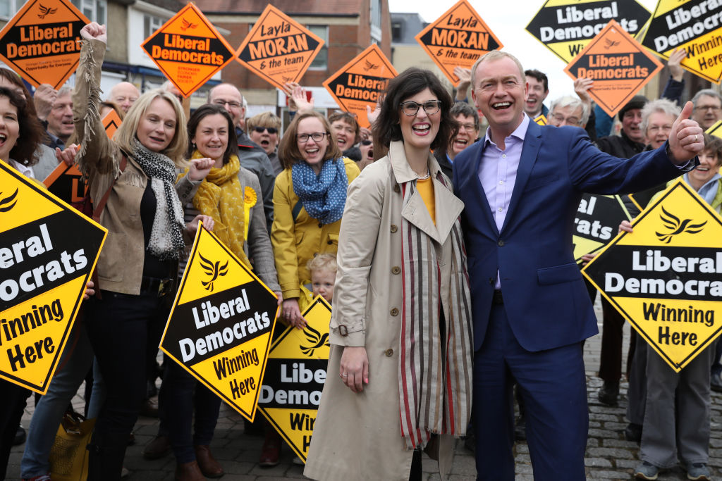 Layla Moran campaigns in Oxford West and Abingdon with then-Liberal Democrat leader Tim Farron