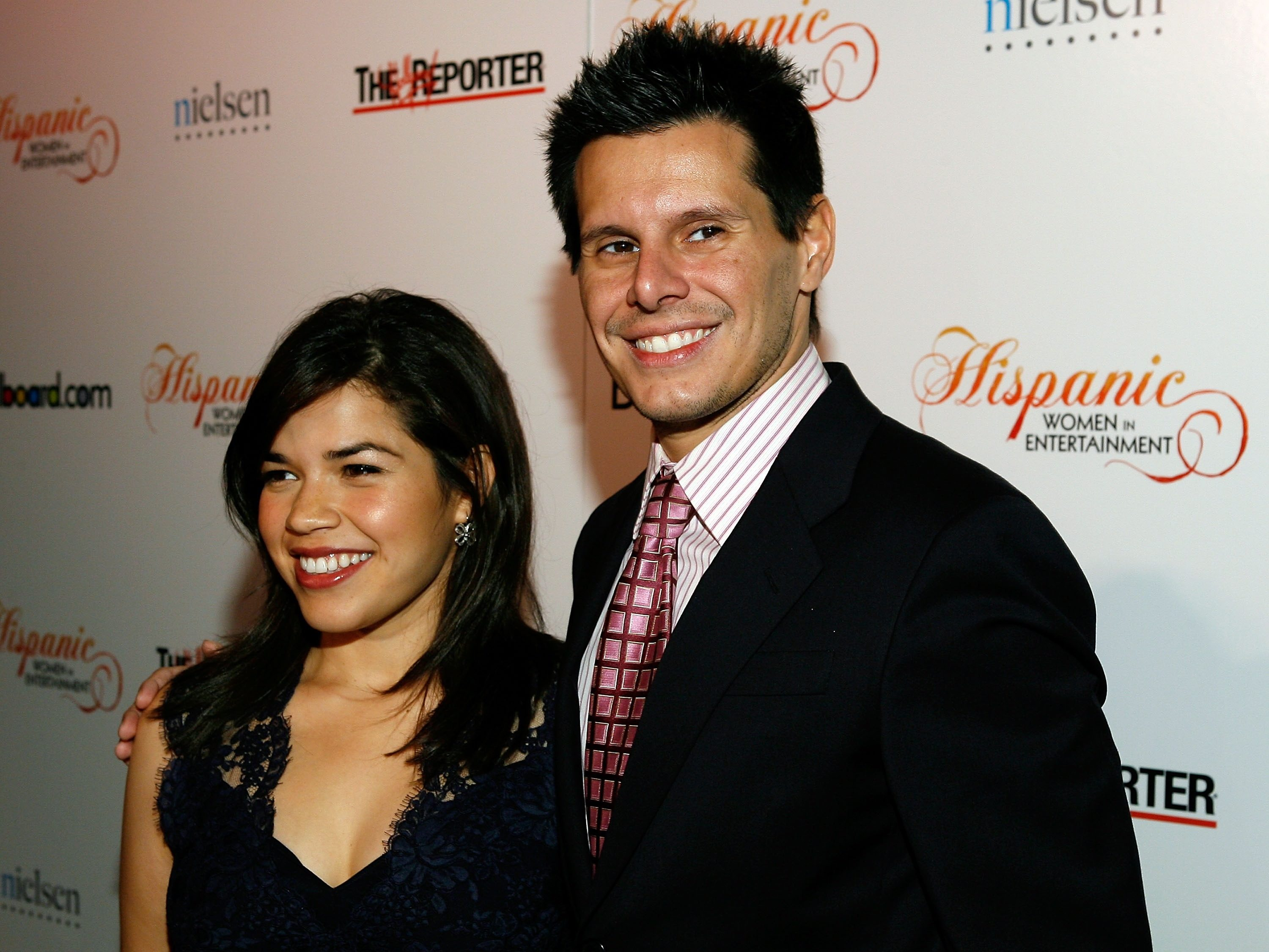Ugly Betty creator Silvio Horta with America Ferrera