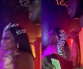 Lizzo (L) and Lil Nas X (R), a literal award-winning combination, hit a strip club and it was iconic. (Screen captures via Twitter)