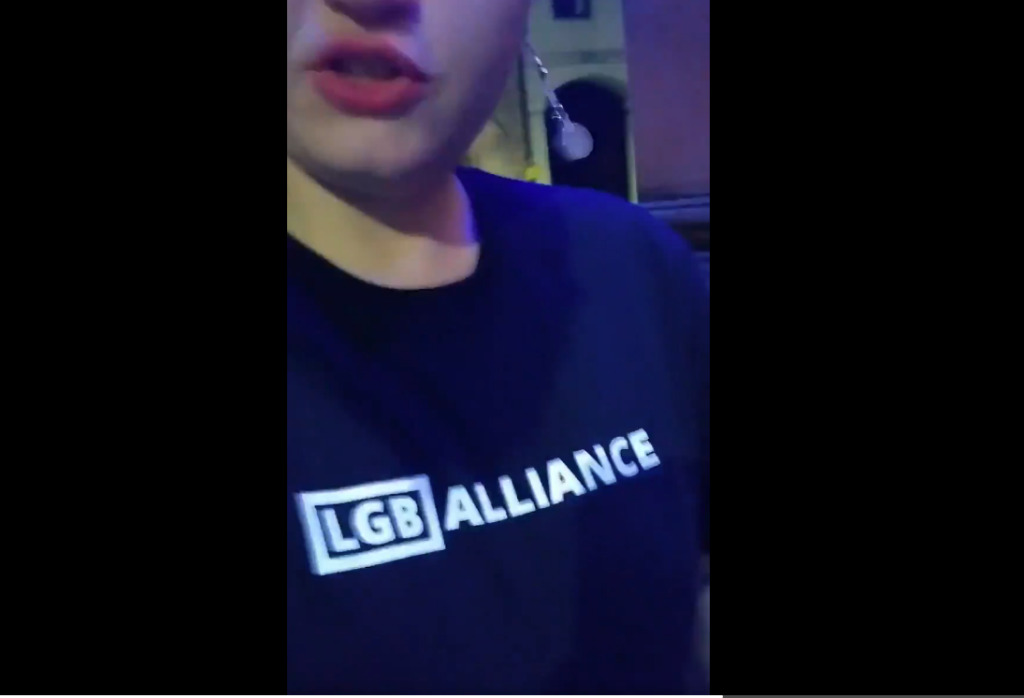 LGB Alliance supporter thrown out of gay bar for wearing 'anti-trans' T-shirt