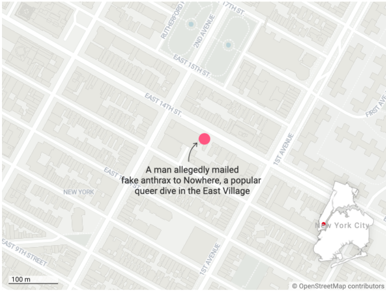With its red lighting and lengthy happy hours, Nowhere has been a go-to dive for New Yorkers for years. (PinkNews)