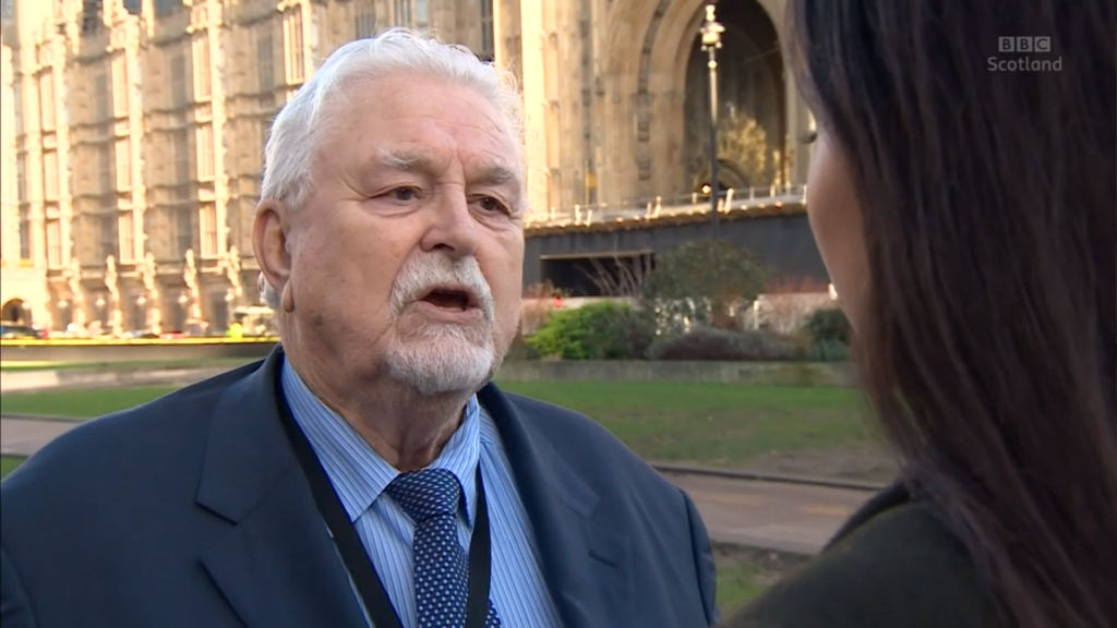 Lord Maginnis has been suspended from the House of Lords