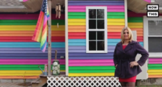 Trans woman's house turned rainbow after transphobes cut cat in half