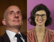 """Lord Andrew Adonis (L) said there is no """"story"""" in response to Layla Moran coming out as pansexual. (Peter Summers/Getty/PinkNews)"""