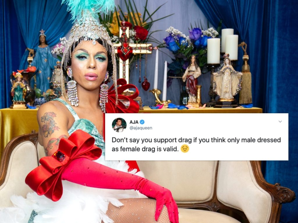 "Drag Race alum Aja lit into RuPaul for ""denying"" trans women the chance to compete on the show. (Santiago Felipe/Getty Images)"