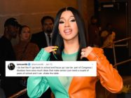 Cardi B said if returns to her studies she could become a member of Congress. (Raymond Hall/GC Images)