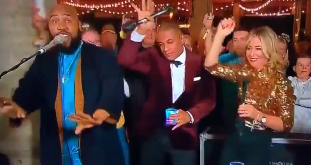 CNN anchor Don Lemon celebrated New Year's Eve in style