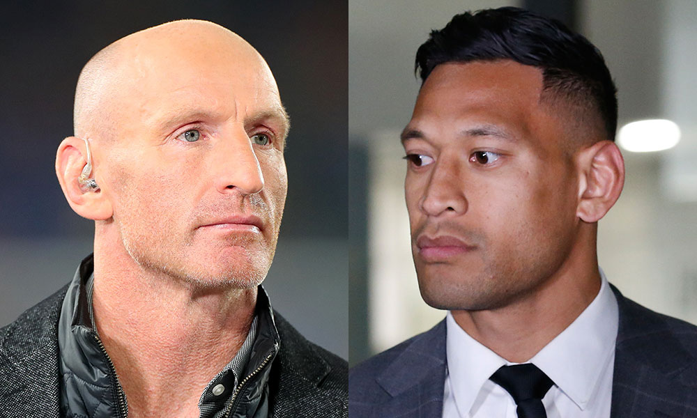 Gareth Thomas and Israel Folau