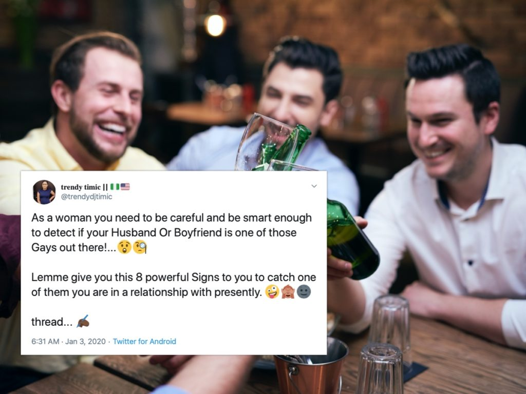 A Twitter thread has gone viral for setting the standard of homophobia for years to come. (Stock photo via Elements Envato)