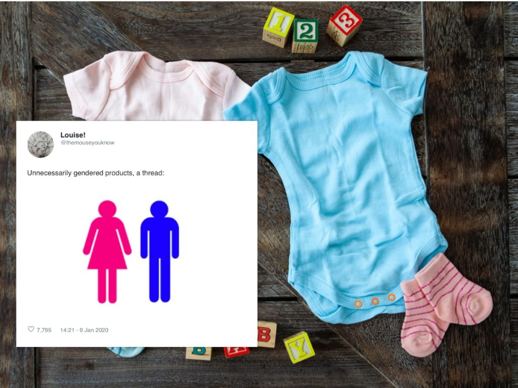 "A Twitter thread collating a bi-colourful array of products branded ""for boys"" and ""for girls"" has gone viral. (Stock photo via Elements Envato)"