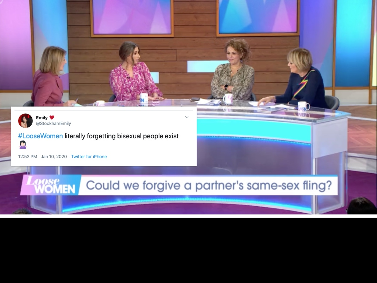 From L-R) Kaye Adams, Stacey Solomon, Nadia Sawalha and Jane Moore on Loose Women. (Screen capture via ITV)