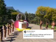 Love Island's Winter series featured a 'Spill The Tea' contest, prompting some criticism from LGBT+ fans. (Screen capture via ITV)