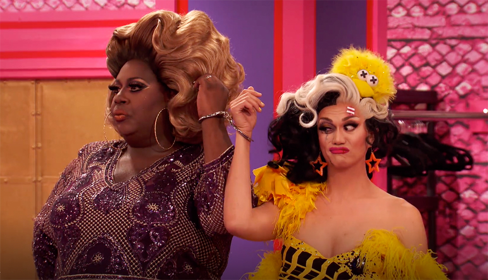 Manila Luzon and Latrice Royale in handcuffs