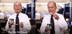 Michael Bloomberg celebrated his LGBT+ policy plan with some Big Gay Ice Cream