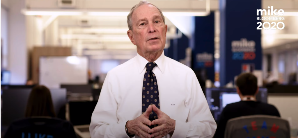Democratic presidential candidate Michael Bloomberg