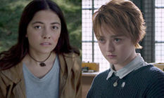 Blu Hunt and Maisie Williams in The New Mutants from Marvel