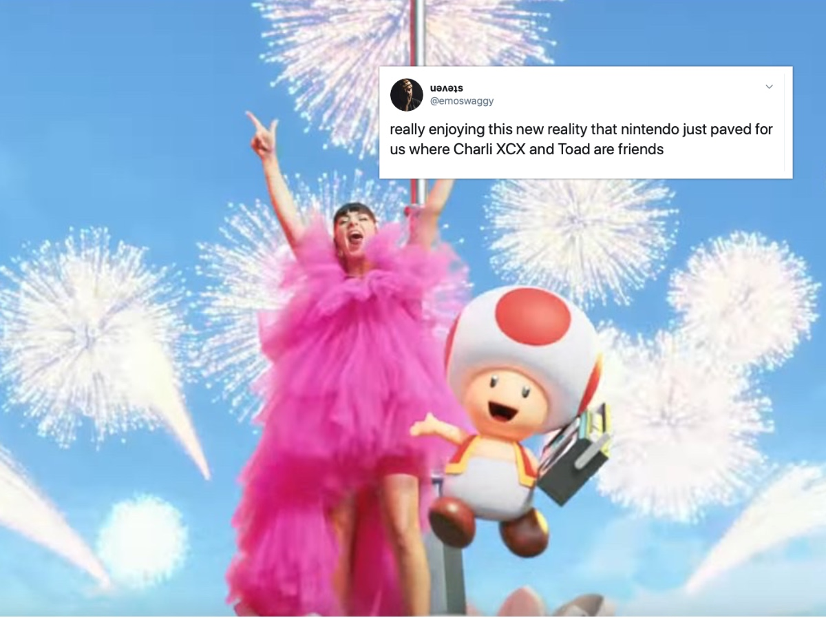 Nintendo and Charli XCX collaborated fora song that has, finally, pushed the gay community into madness. (Screenshot via YouTube)