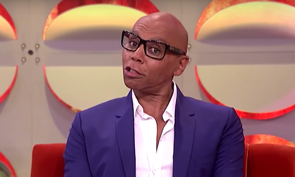 RuPaul on the set of his talk show.